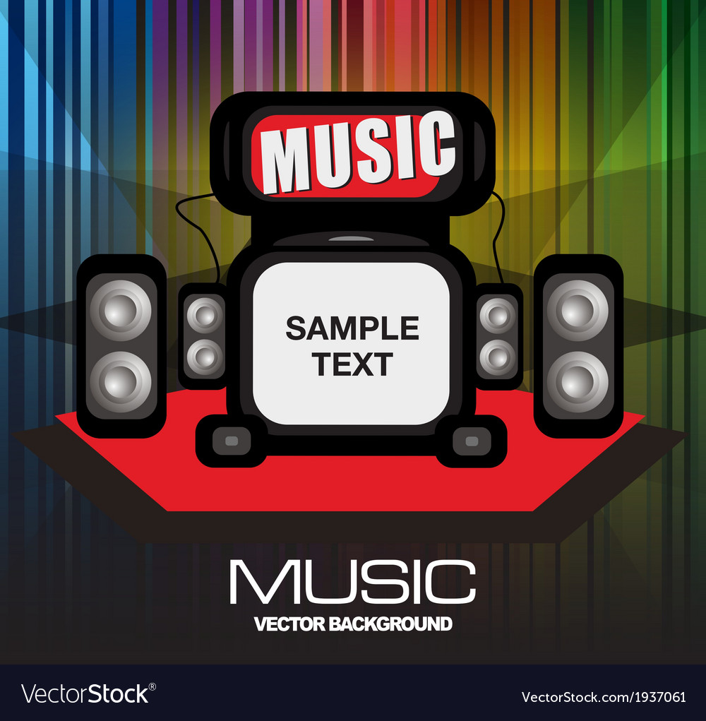 Dance party music vector | Price: 1 Credit (USD $1)