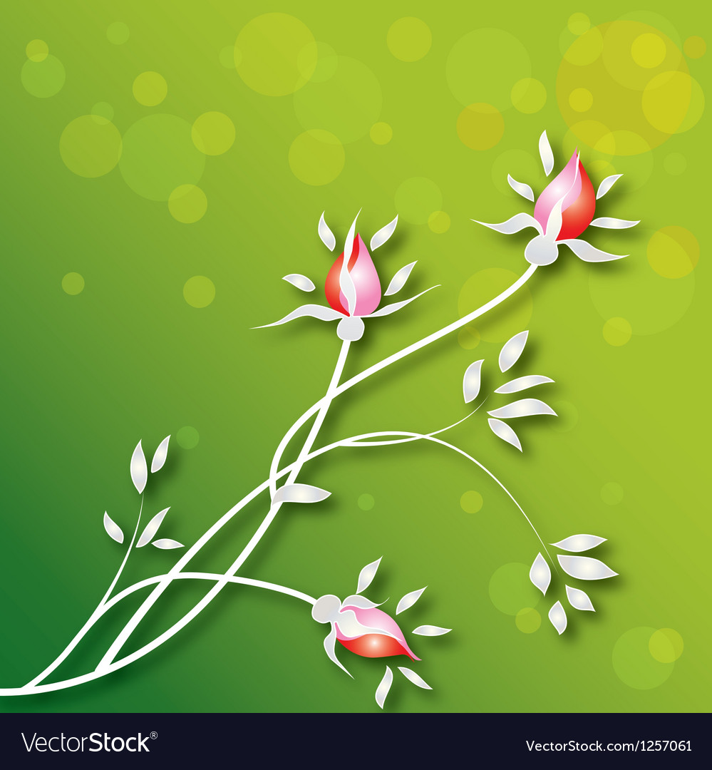 Flowers-background vector | Price: 1 Credit (USD $1)