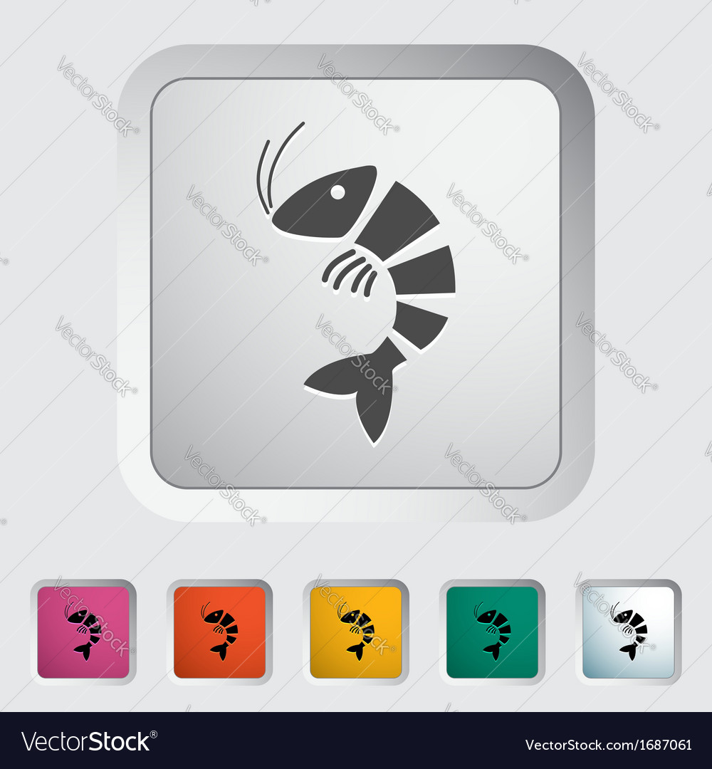 Shrimp vector | Price: 1 Credit (USD $1)