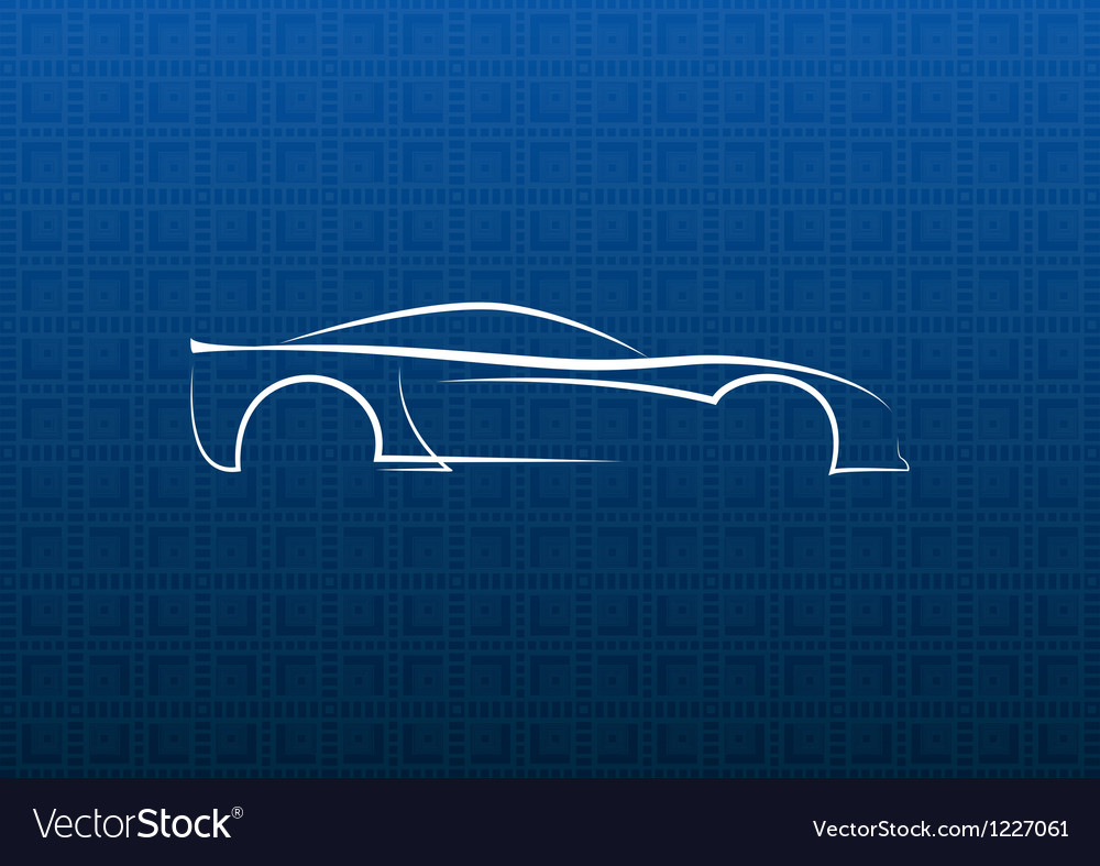 White car logo on blue texture vector   Price: 1 Credit (USD $1)