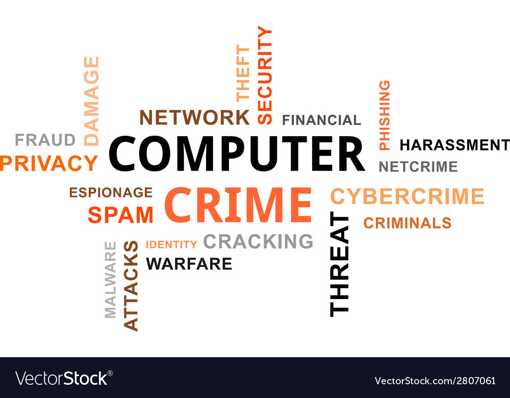 Word cloud computer crime vector | Price: 1 Credit (USD $1)