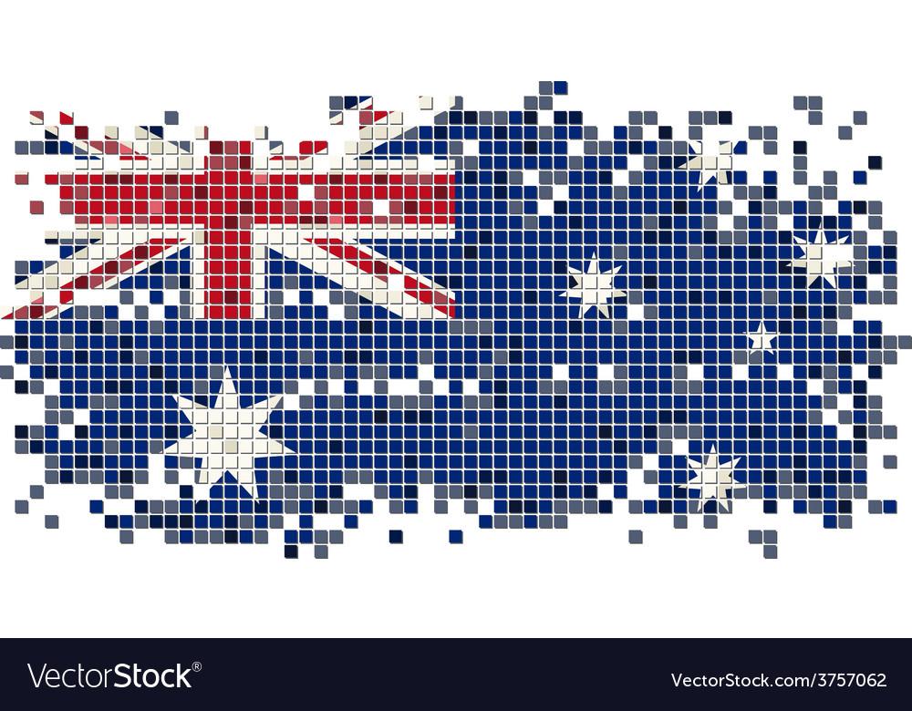 Australian grunge tile flag vector | Price: 1 Credit (USD $1)