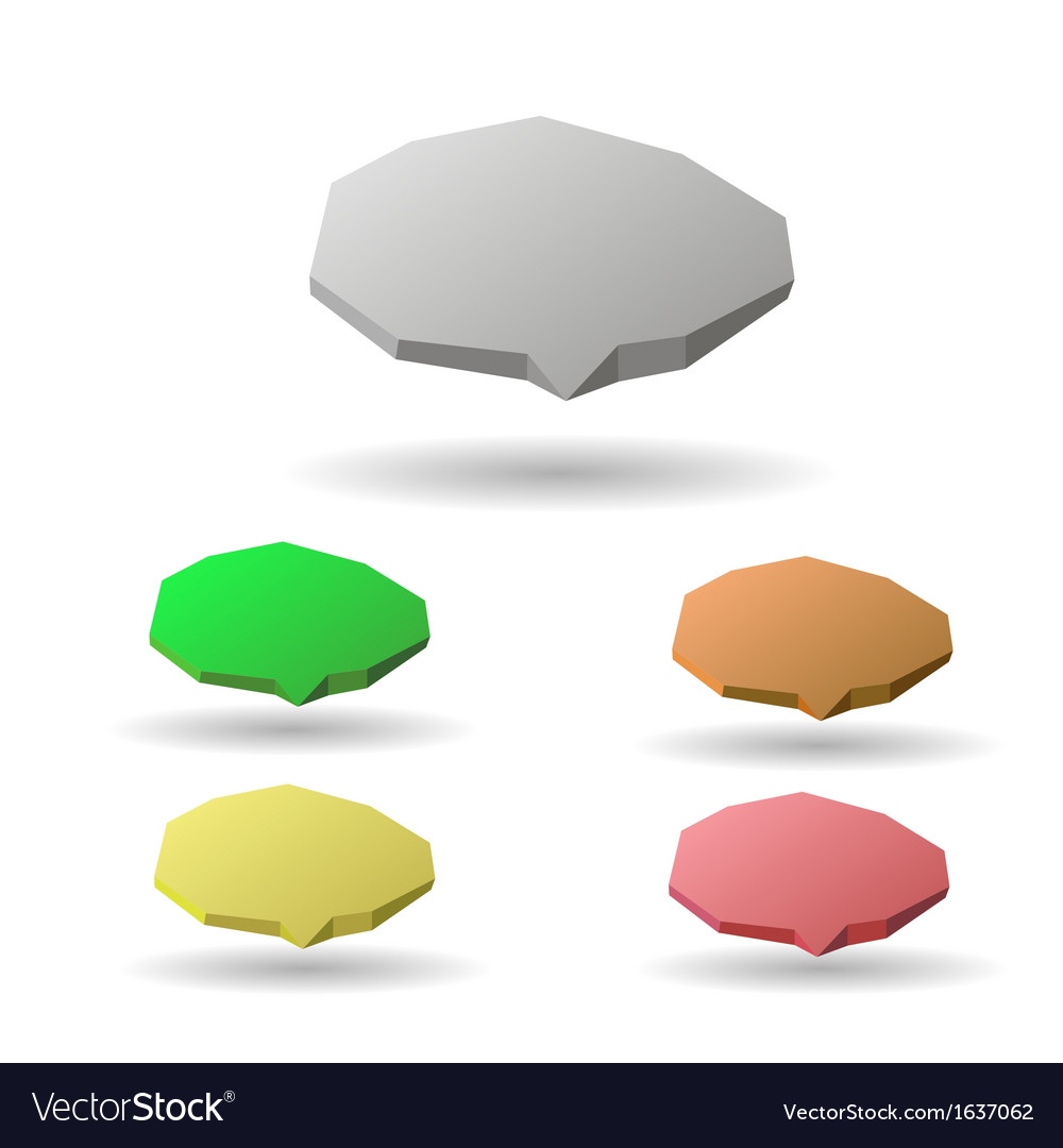 Colorful 3d speech bubbles vector | Price: 1 Credit (USD $1)