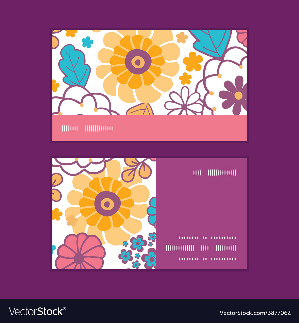 Colorful oriental flowers horizontal stripe vector | Price: 1 Credit (USD $1)