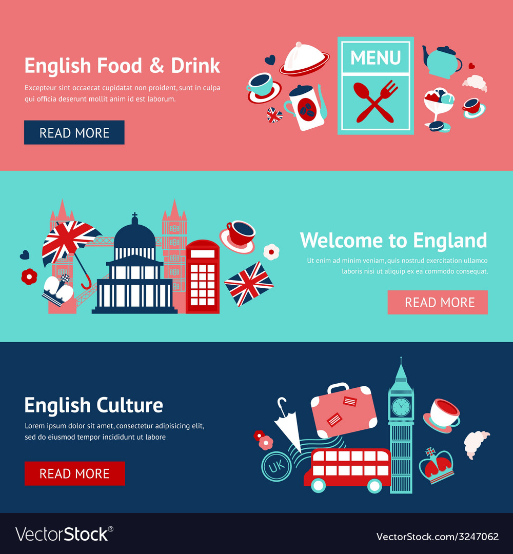 England banner set vector | Price: 1 Credit (USD $1)