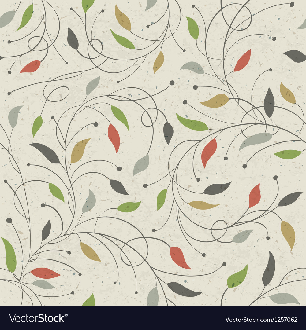Floral seamless pattern eps10 vector | Price: 1 Credit (USD $1)
