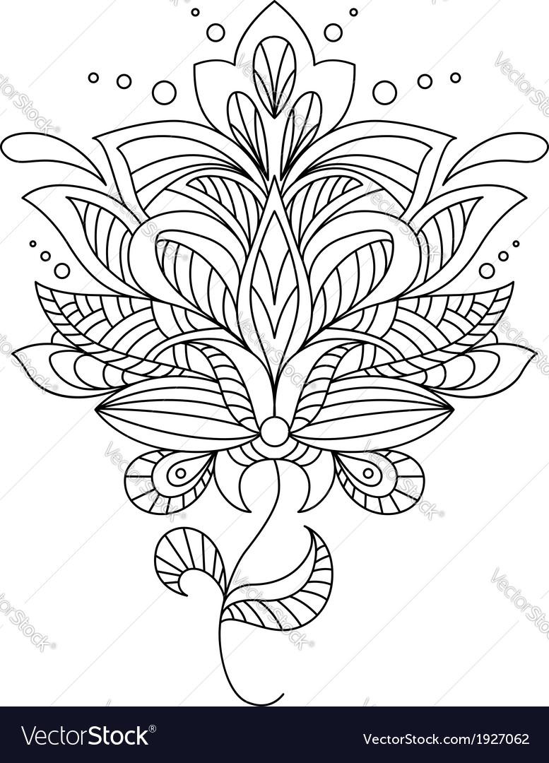 Intricate calligraphic floral design vector | Price: 1 Credit (USD $1)