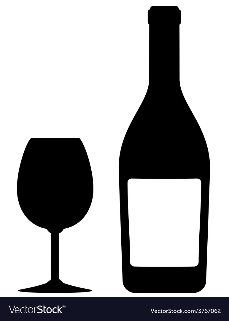 Isolated bottle and glass vector | Price: 1 Credit (USD $1)