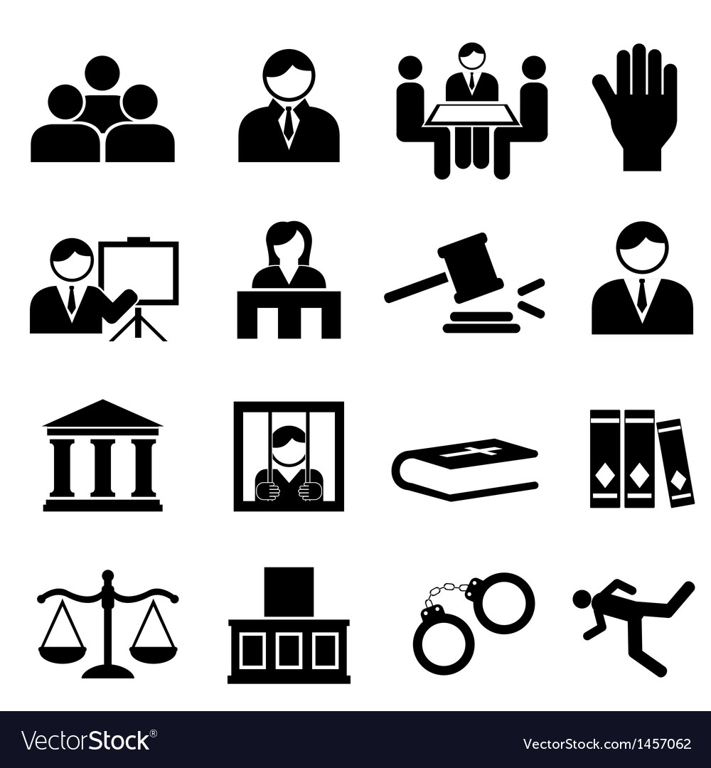 Justice icons vector | Price: 1 Credit (USD $1)
