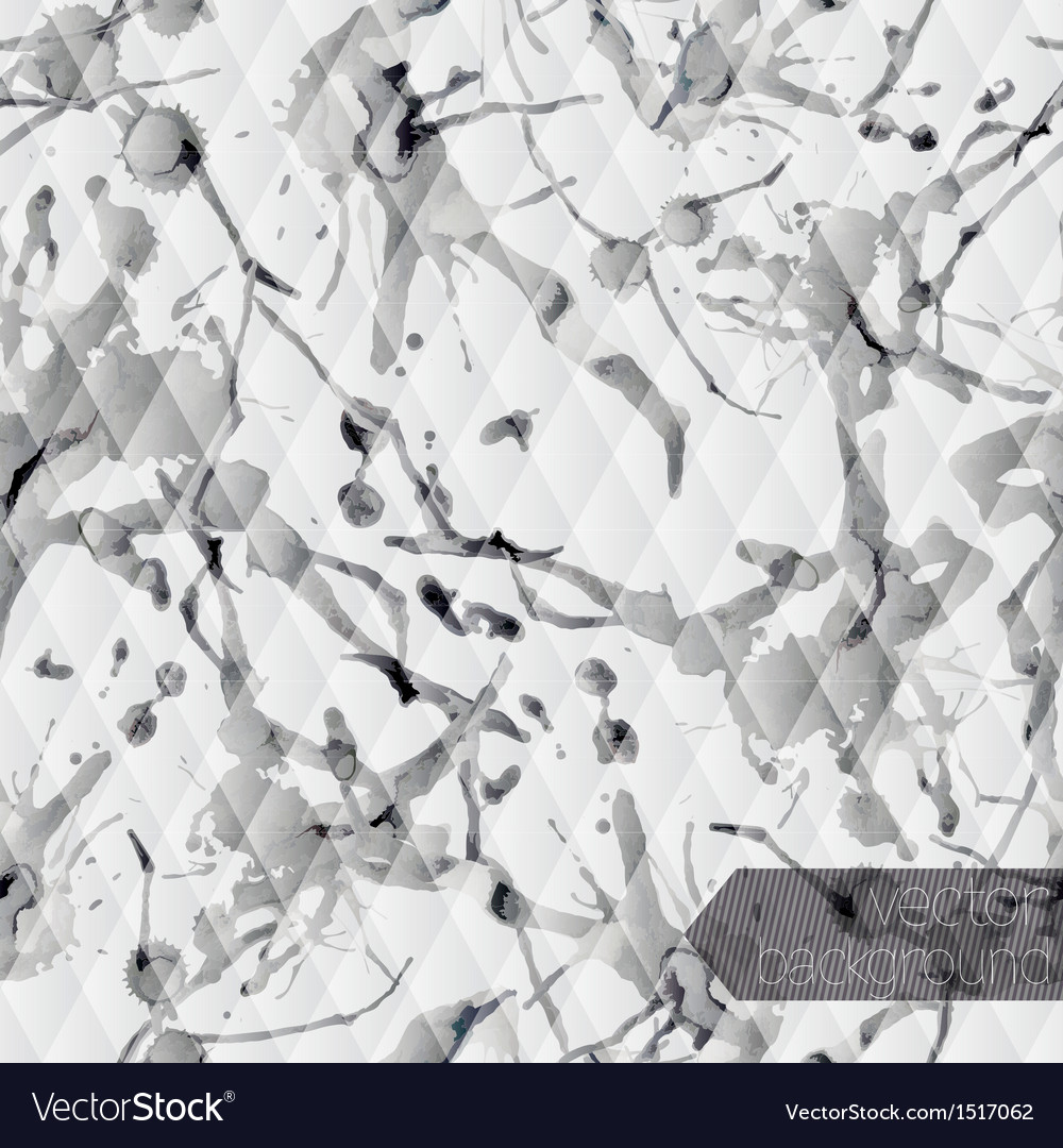 Monochrome seamless background with ink stain vector   Price: 1 Credit (USD $1)