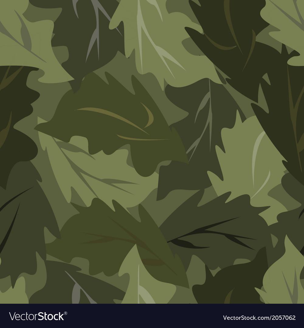 Seamless background dark leaves vector | Price: 1 Credit (USD $1)