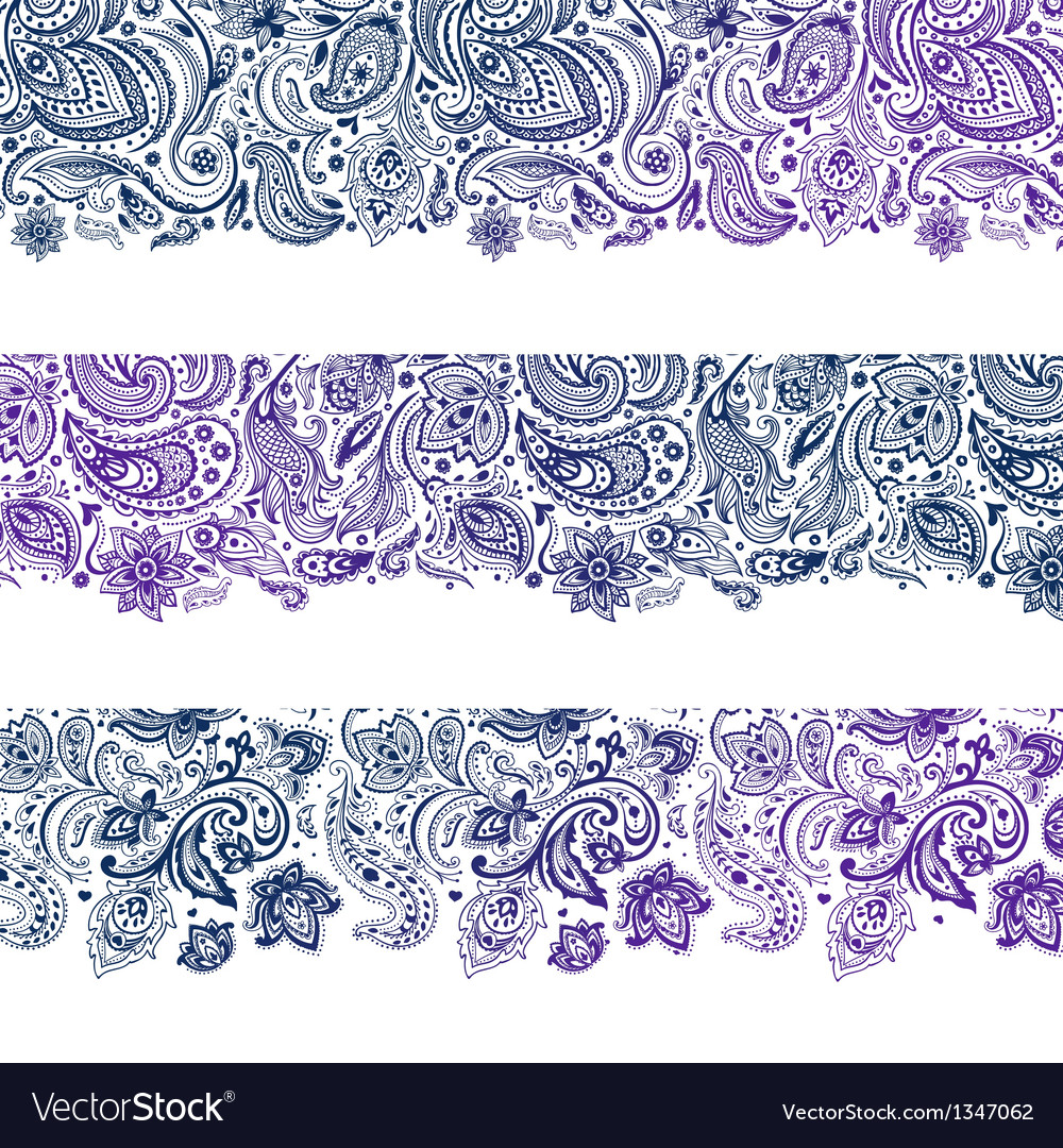 Set of beautiful vintage ornate banners vector | Price: 1 Credit (USD $1)
