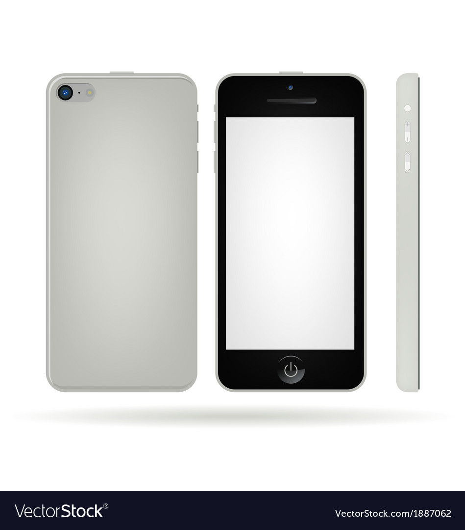 Silver smart phone vector | Price: 1 Credit (USD $1)