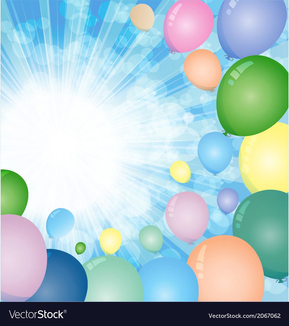 Sky balloons vector | Price: 1 Credit (USD $1)