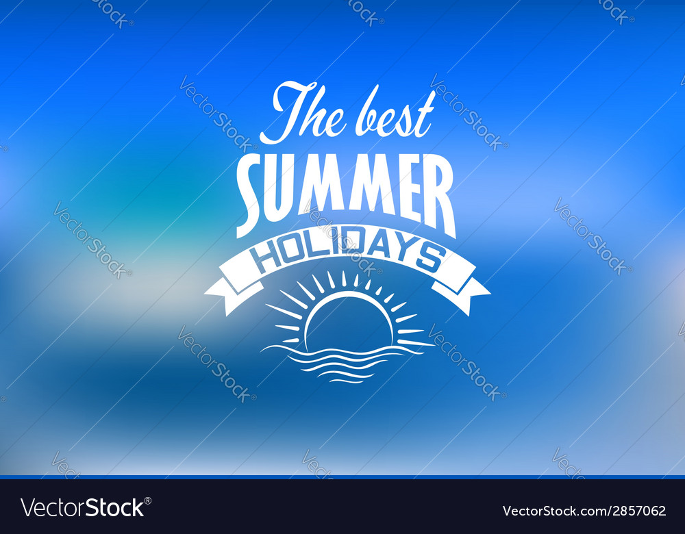 Summer holidays banner vector | Price: 1 Credit (USD $1)