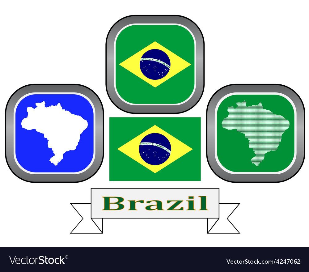 Symbol of brazil vector   Price: 1 Credit (USD $1)