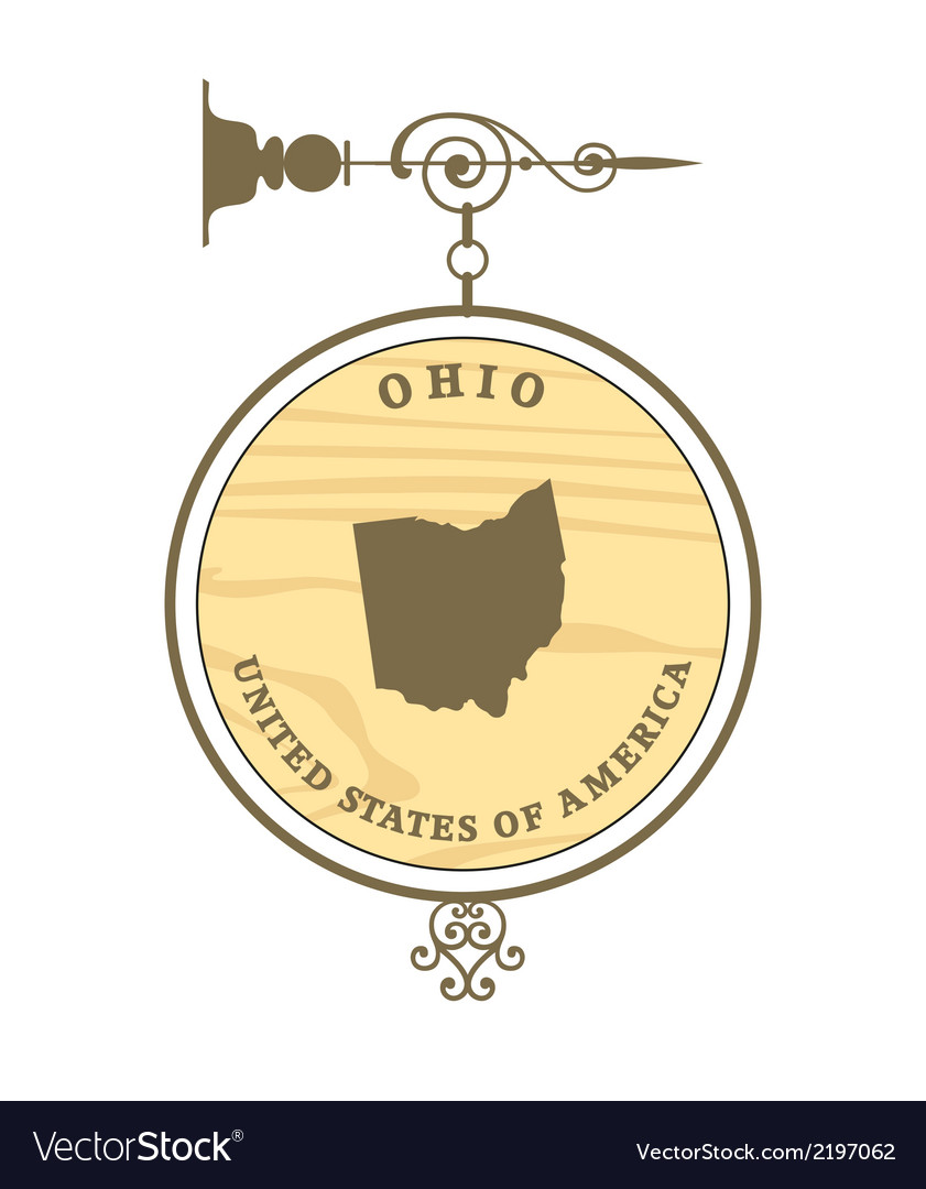 Vintage label ohio vector | Price: 1 Credit (USD $1)