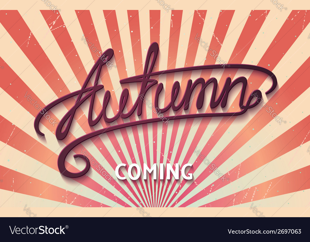 Autumn is coming vector | Price: 1 Credit (USD $1)