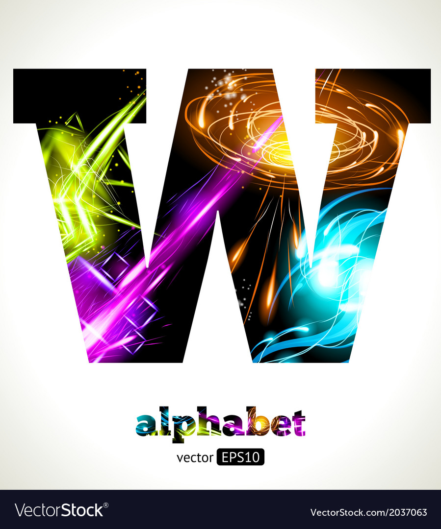 Design abstract letter w vector | Price: 1 Credit (USD $1)