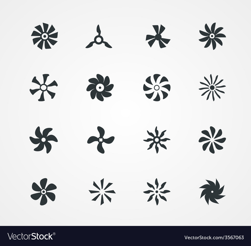 Fan icons collection vector   Price: 1 Credit (USD $1)