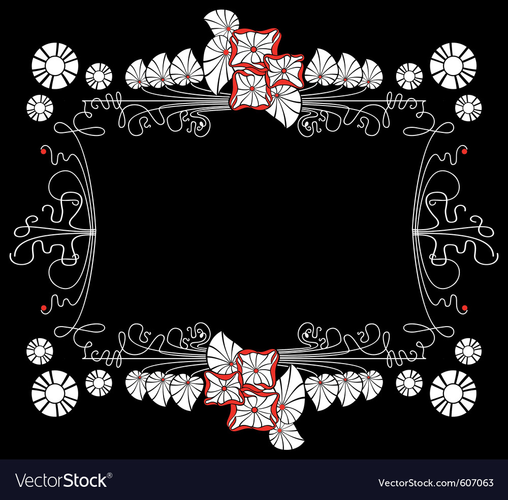 Flower black background vector | Price: 1 Credit (USD $1)