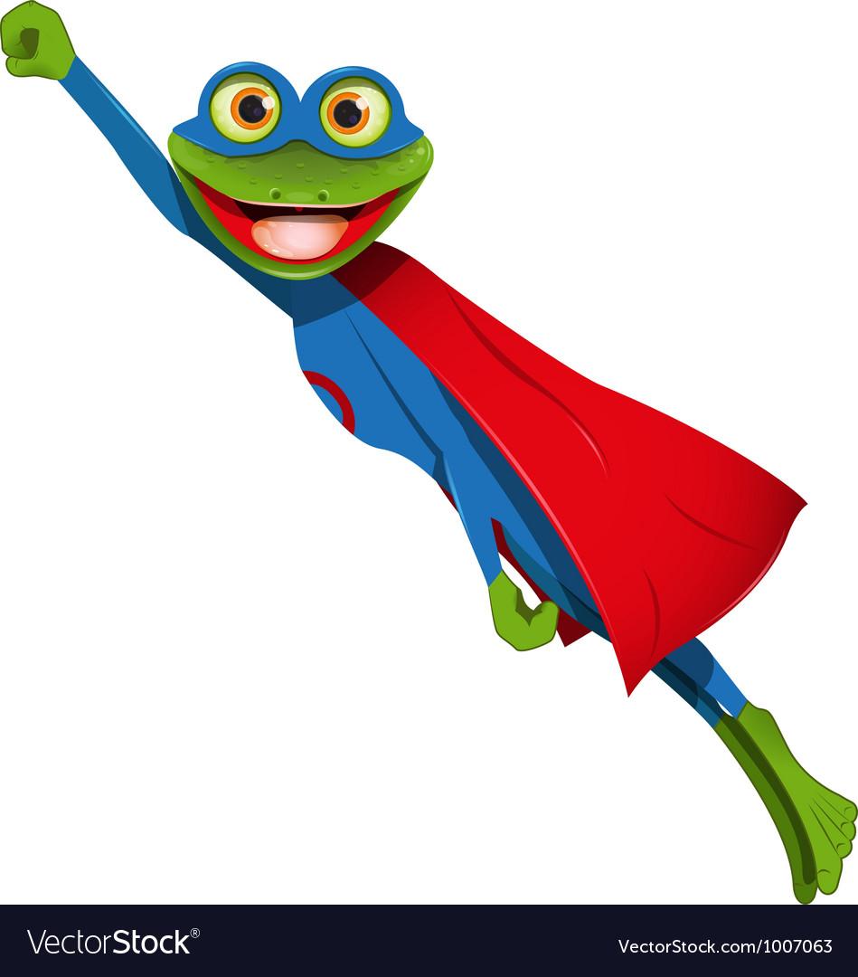 Frog superman vector | Price: 3 Credit (USD $3)