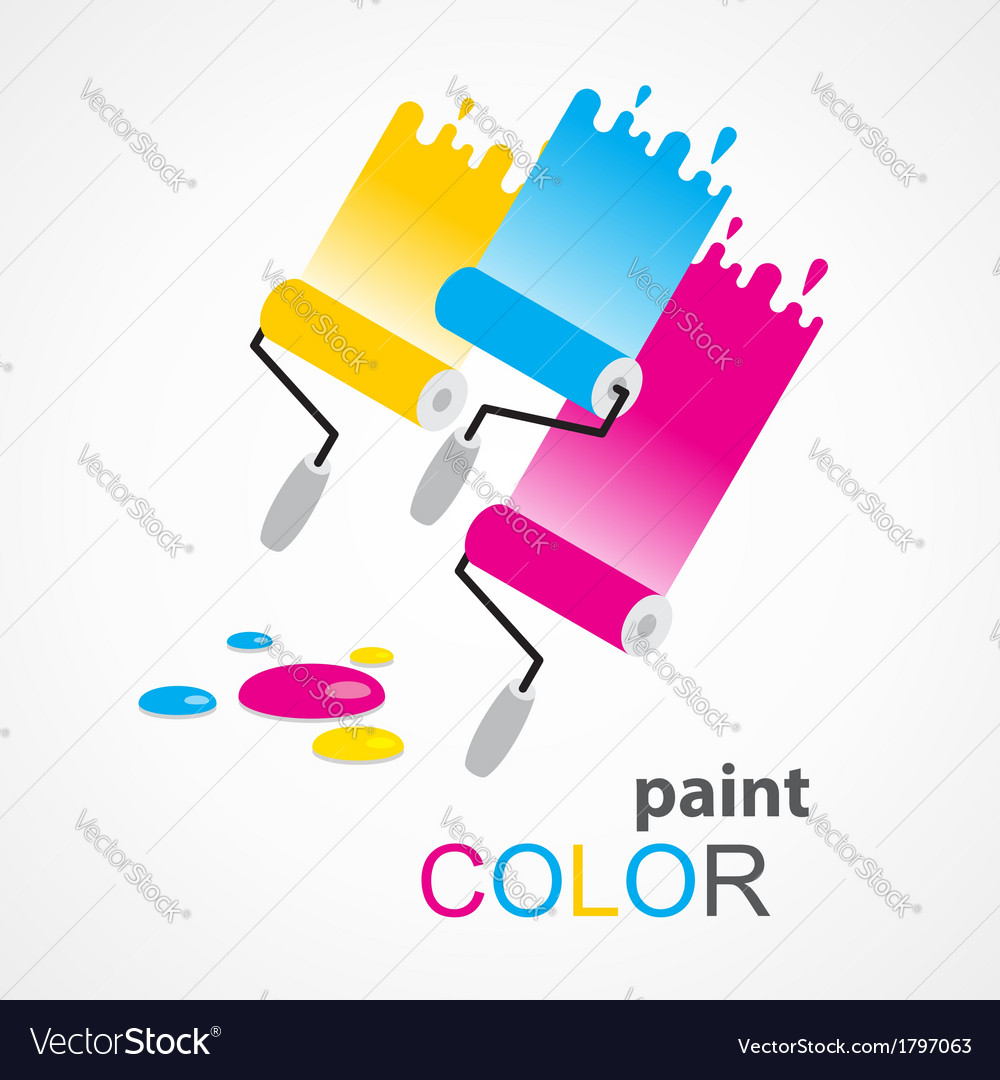 Paint roller colorful vector | Price: 1 Credit (USD $1)