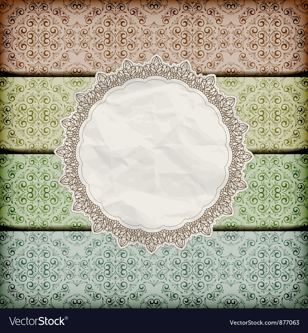 Seamless floral borders abd napkin vector | Price: 1 Credit (USD $1)