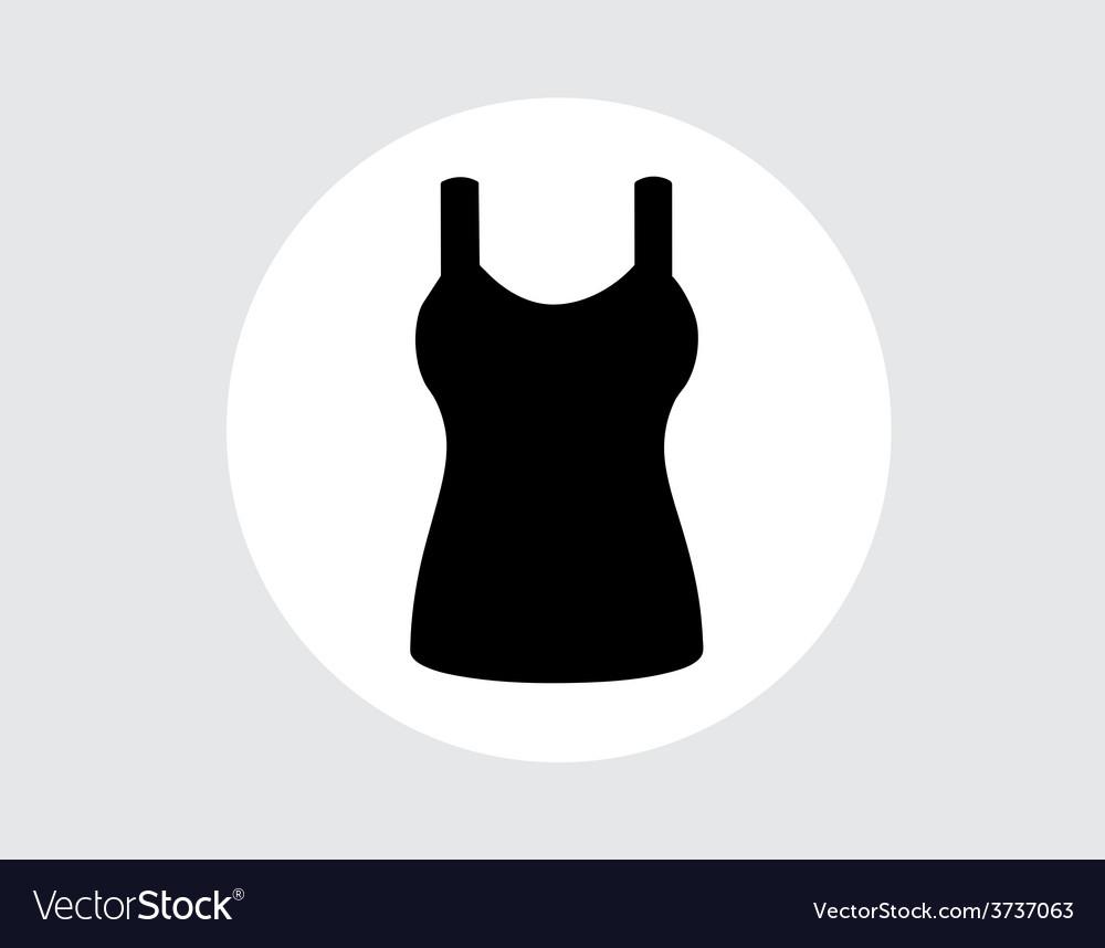 Singlet sleeveless flat icon the circle vector | Price: 1 Credit (USD $1)