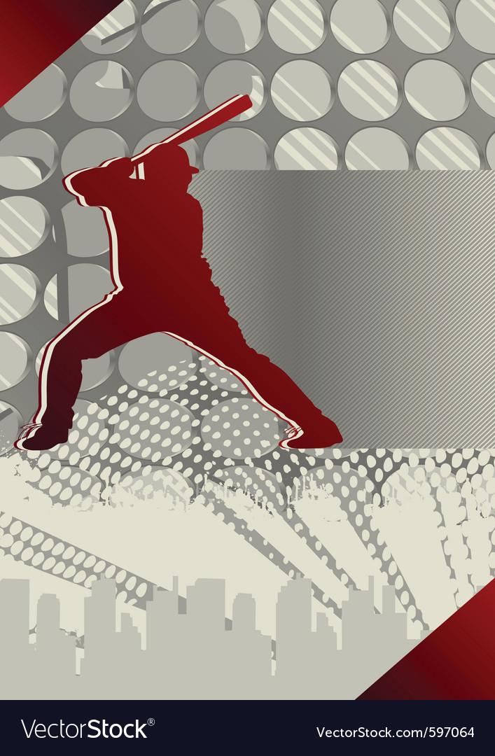 Baseball player poster vector | Price: 1 Credit (USD $1)