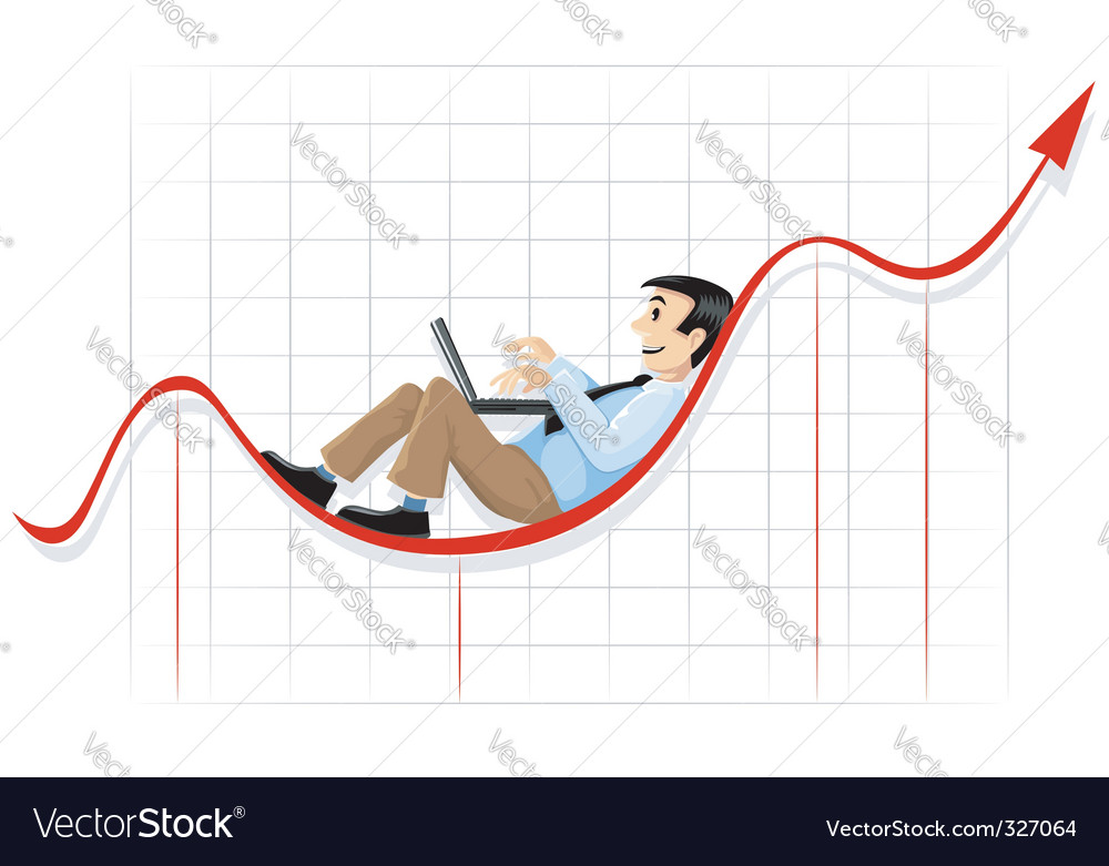 Businessman lying and working vector | Price: 3 Credit (USD $3)