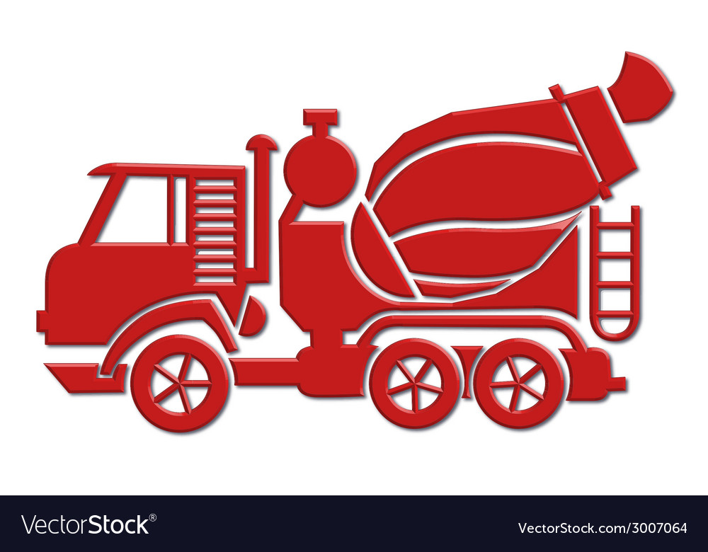 Cement mixer car icon vector | Price: 1 Credit (USD $1)
