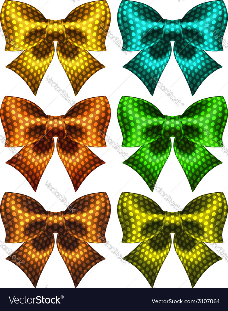 Holiday polka dot bow knots vector | Price: 1 Credit (USD $1)