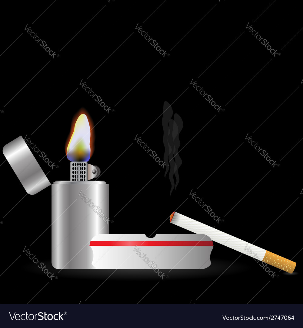 Lighter and sigarette vector | Price: 1 Credit (USD $1)