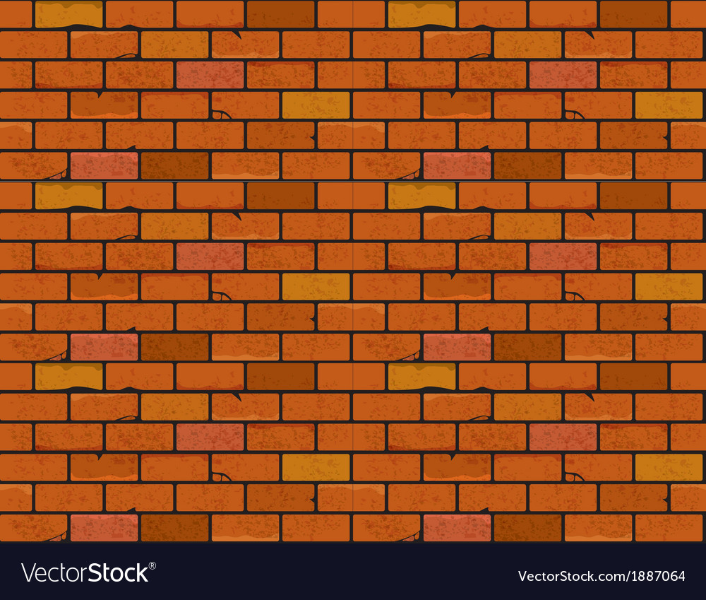 Red brick wall seamless texture vector | Price: 1 Credit (USD $1)