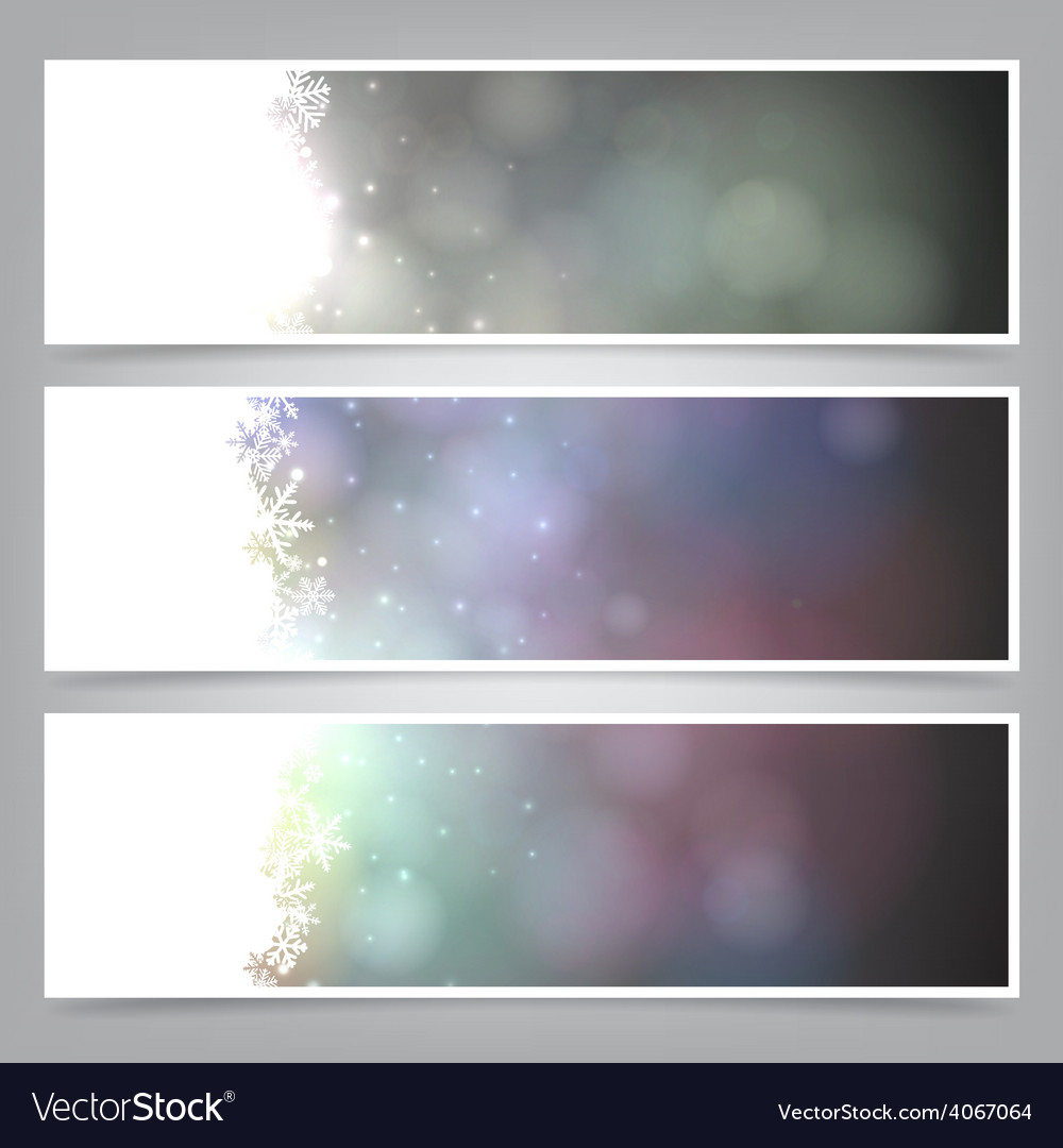 Set of abstract christmas banners vector | Price: 1 Credit (USD $1)