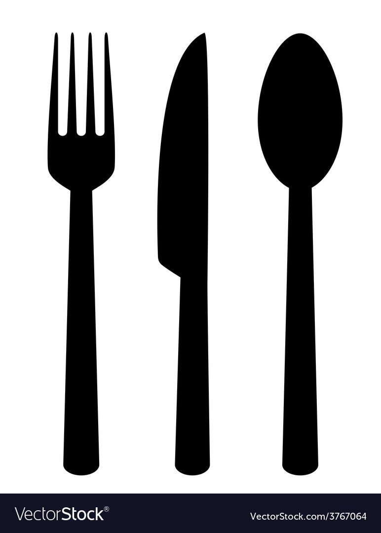Set of isolated cutlery icons vector | Price: 1 Credit (USD $1)