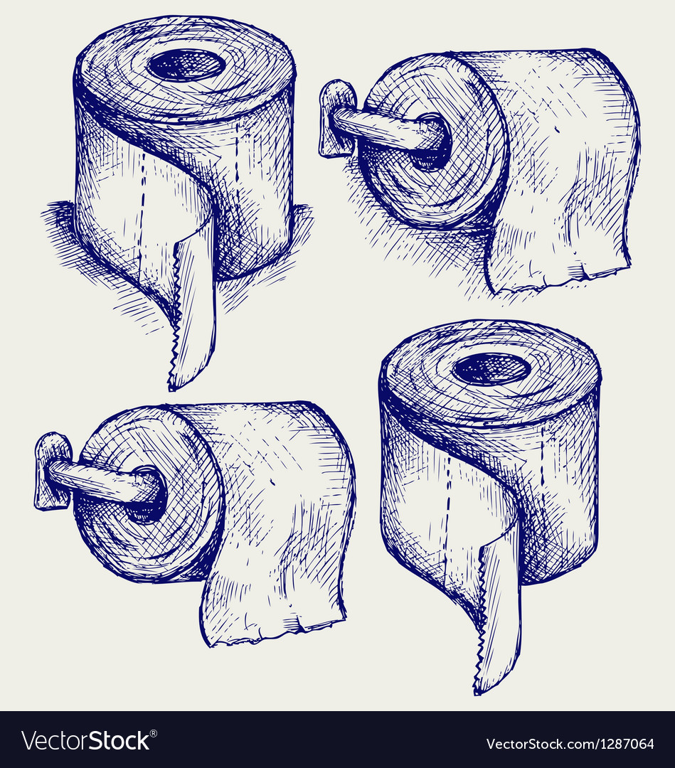 Simple toilet paper vector | Price: 1 Credit (USD $1)