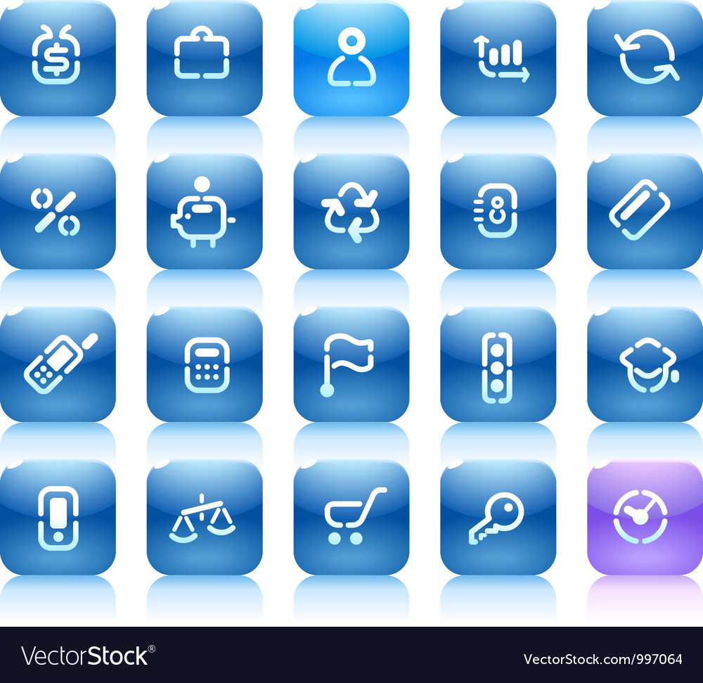 Stencil blue buttons for business vector | Price: 1 Credit (USD $1)