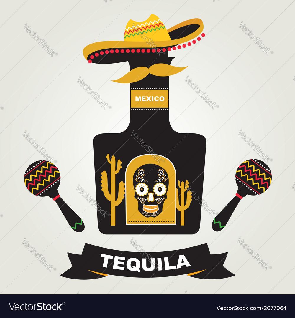 Tequila menu design mexican drink vector | Price: 1 Credit (USD $1)