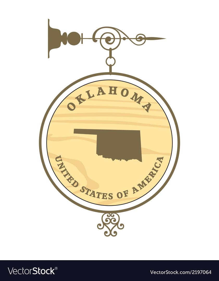 Vintage label oklahoma vector | Price: 1 Credit (USD $1)