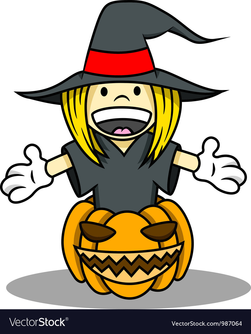 Witch costume for halloween vector | Price: 1 Credit (USD $1)