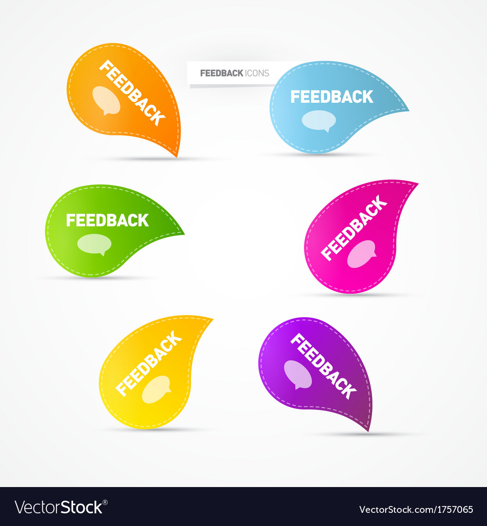 Colorful feedback icons vector | Price: 1 Credit (USD $1)