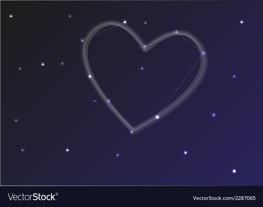 Constellation heart vector | Price: 1 Credit (USD $1)