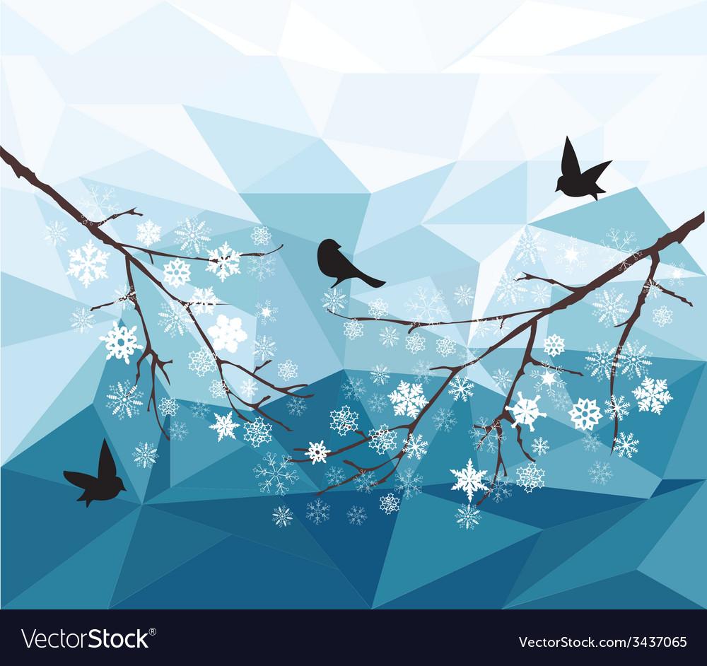 Diamond snow bird vector | Price: 1 Credit (USD $1)