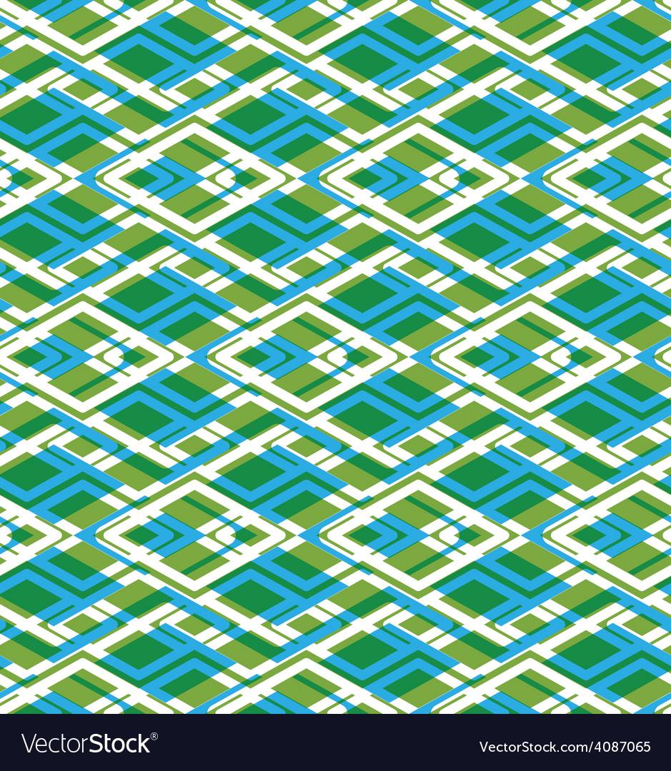 Geometric symmetric lined seamless pattern vector | Price: 1 Credit (USD $1)