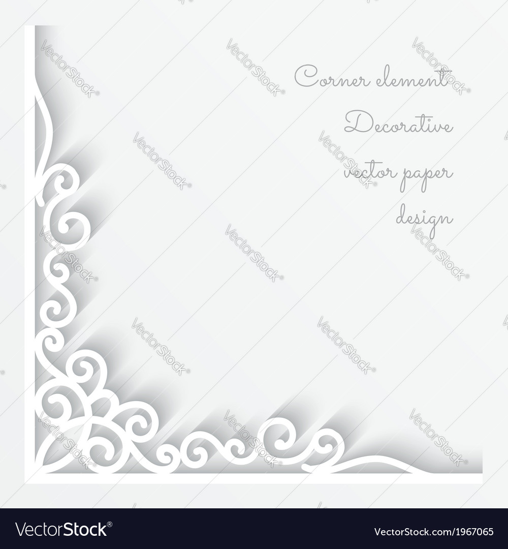Paper corner ornament vector | Price: 1 Credit (USD $1)