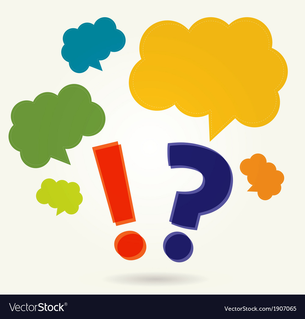 Question and exclamation marks with speech bubbles vector   Price: 1 Credit (USD $1)