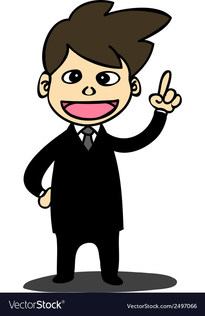 Business man cartoon style vector | Price: 1 Credit (USD $1)