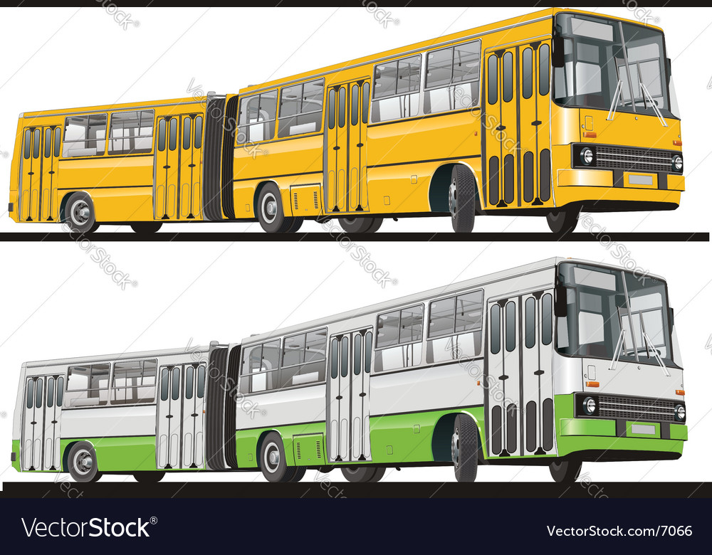 City bus articulated vector | Price: 5 Credit (USD $5)